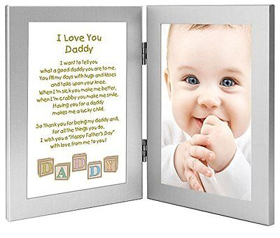 Daddy Fathers Day Frame - Gift for Daddy From Son or Daughter - Poem in Double -