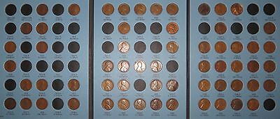1909-1940 PDS Lincoln Wheat Cent Collection, 60 coins in Whitman inc. Semi-Keys