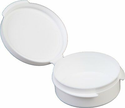 Consolidated Plastics 1/4oz Hinged Lid Vial Poly-Con Container in White, 100