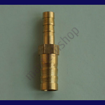 1/4 to 3/8 (6mm X 10mm) Union Hose Barb Brass Fitting Air Boat Gas Fuel Reducer