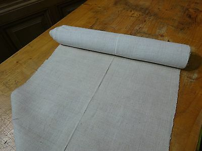 A Homespun Linen Hemp/Flax Yardage 6 Yards x 18.5'' Plain  # 8340