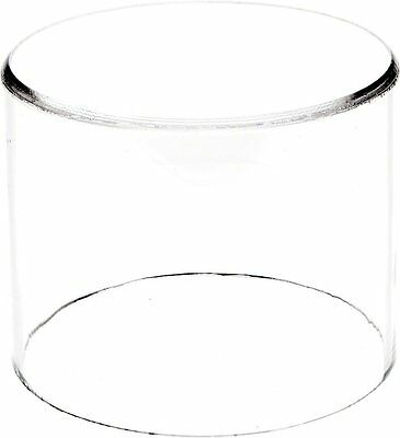 """Plymor Brand Clear Acrylic Round Cylinder Display Riser, 4"""" H x 5"""" D"""