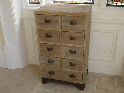 shabby chic 9 drawer wooden chest of drawers storage