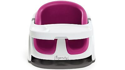 Ingenuity Baby Base 2-in-1 Booster Seat for Safe & Secure Sitting - Magenta