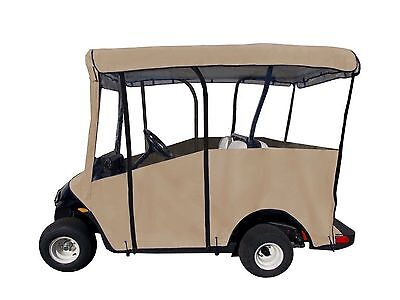 """Portable Golf Cart Cover for Extended 80"""" Roofs Tan Free Shipping"""
