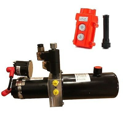 12VDC hydraulic pump double acting power pack 2000psi 1 qt steel PPD-12-800-75S