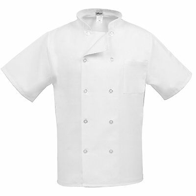 Fame Adults Short Sleeve Chef coat -White-Small