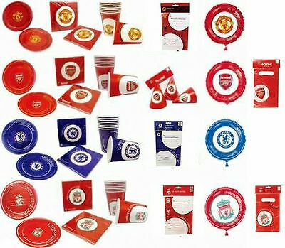Manchester United, Chelsea, Liverpool, Arsenal Official Party Tableware New