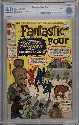 Fantastic Four #15 - CBCS Graded 4.0 - 1st Mad Thinker