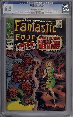 Fantastic Four #66 - CGC Graded 6.5 - 1st Mention Of Him (Warlock)