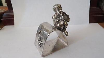 Victorian Silver Plated Napkin Ring Centaur with Cymbals  Meriden #246    #9