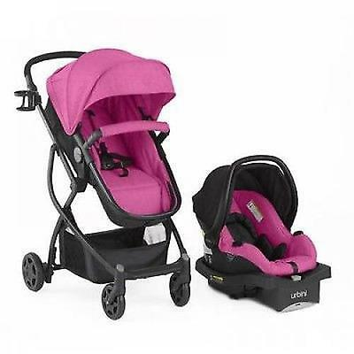 BABY Stroller Car Seat 3in1 Travel System Infant Carriage Buggy Bassinet Berry