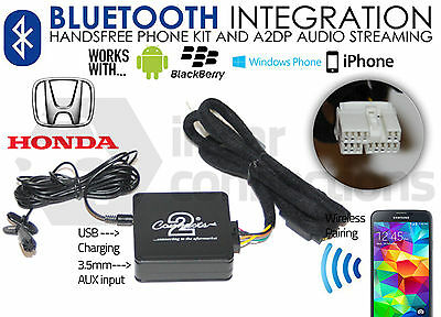 Honda Accord Bluetooth streaming adapter handsfree calls CTAHOBT001 car AUX MP3