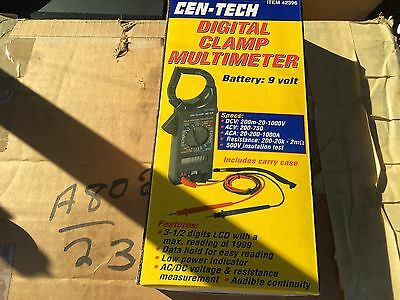 CEN-TECH Digita Clamp Multimeter 266 with case, item #42396