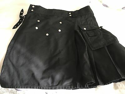 Men's Black Utility Kilt