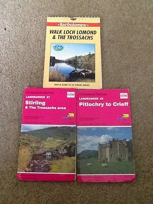 os landranger maps 57 & 52plus walk loch lomond & the trossachs Maps