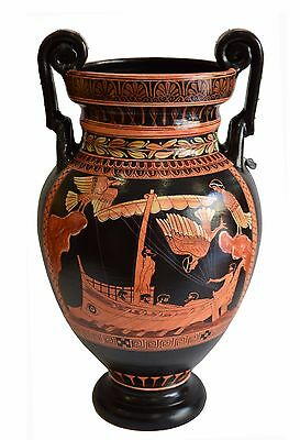 Odysseus  passing the Sirens - Red Figure Volute Krater Vase