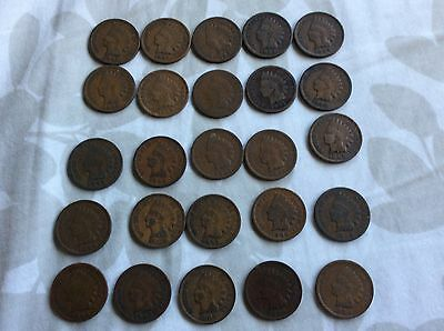 Indian Head Cent Lot And V Nickel Lot