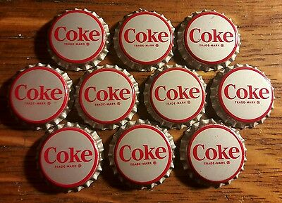 10 COKE COCA COLA soda bottle caps unused cork