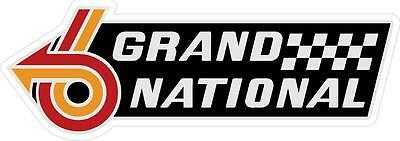 """#967 (1) 4.5"""" Buick Grand National Decal Sticker Laminated GN GNX Turbo GM"""
