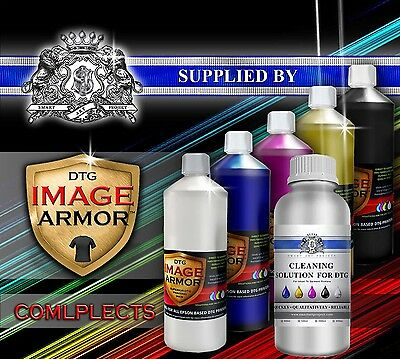 Complects 100ml 250ml 500ml CMYK WHITE IMAGE ARMOR INK  DTG PRINTER INK Cleaner