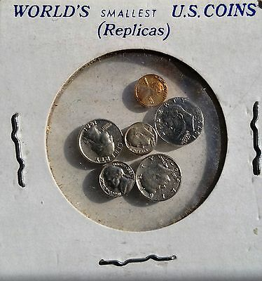 World's Smallest U.S. Coins RARE NOVELTY 1970's - 1980's MINIATURE COINS