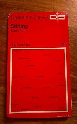 Vintage Ordnance Survey Map, Sheet 54 Stirling, 7th Series