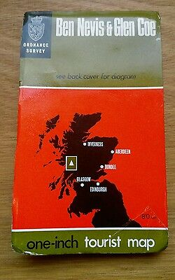 Vintage Ordnance Survey Map, Ben Nevis & Glen Coe One Inch Tourist Map, 7th Ser.