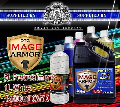 2L-2000ml Fresh CMYK IMAGE ARMOR INK DIRECT TO GARMENT DTG TEXTILE PRINTER INK