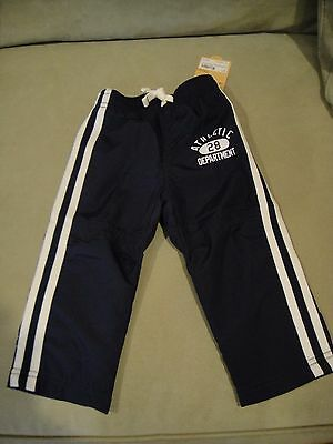 Carter's Boys Athletic Pants Navy  - size 12 months - NEW with tags