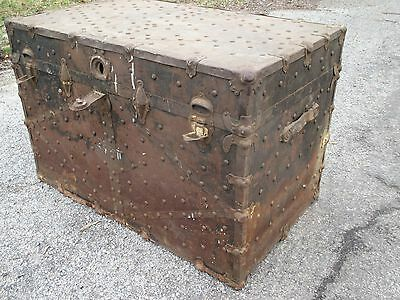 Antique Chest , Antique Trunk, Tacked/By WHITTLE TRUNK & BAG Co. , Knoxville, TN