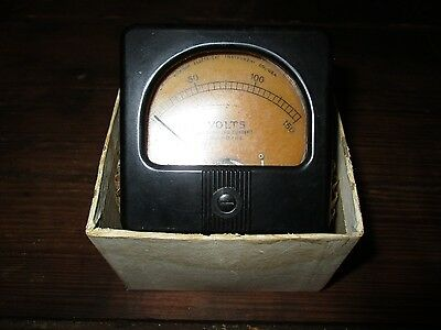 Vintage Marion Electrical Instrument Co. Voltage Gauge NOS