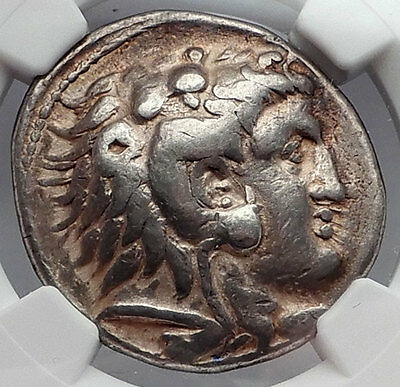 ALEXANDER III the GREAT 320BC Silver Tetradrachm Ancient Greek Coin NGC i60170