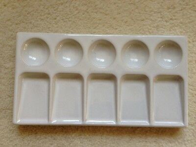 Dental Porcelain Ceramic Tray, 5 Wells, 5 Slanted Mixing Areas No Lid