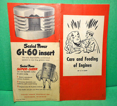 1950s Sealed Power Care And Feeding Of Engines Booklet