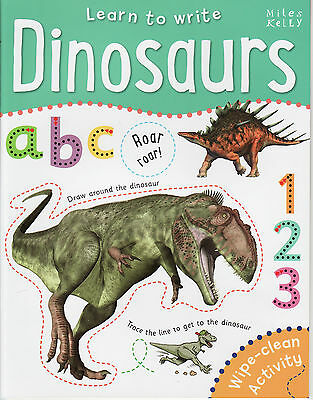 Early Learning Children's Wipe Clean Activity Book: Learn To Write: Dinosaurs
