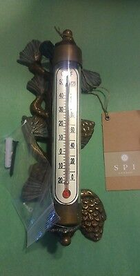 SPI Outdoor Thermometers Home Pinecone Wall Mounted Thermometer NEW WITH TAGS