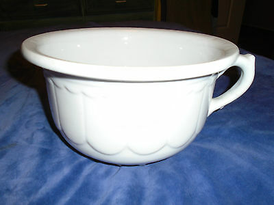 Antique White Stone China Burgess & Cambell Chamber Pot