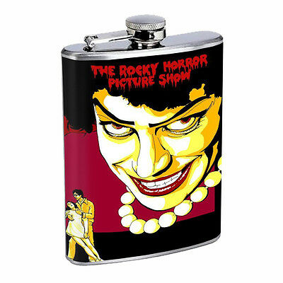 Pop Art D10 Flask 8oz Stainless Steel Hip Drinking Whiskey Rocky Horror Picture