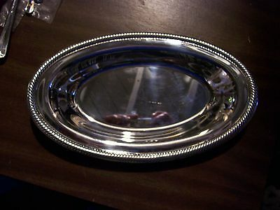 International Silver Co. Large Oval Serving Bowl w/Tag Very Ornate!!!