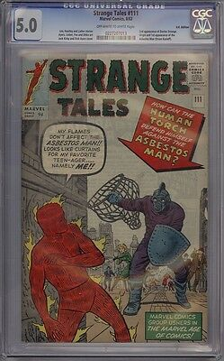 Strange Tales #111 - CGC Graded 5.0 - 2nd Appearance Of Doctor Strange