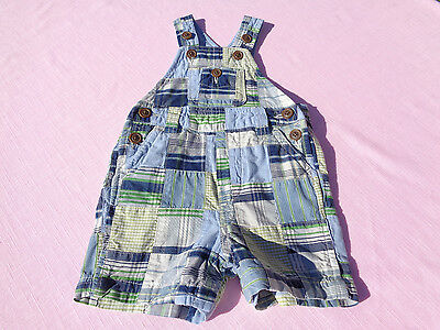 baby gap baby boys romper size 0-3 months patchwork easter euc