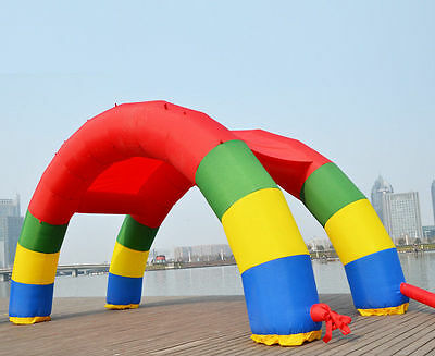 Discount Twin Arches 26ft*13ft D=8M/26ft Inflatable Rainbow Arch U