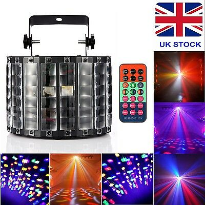 RGBW 30W 9 LED Stage Light DMX512 Strobe Lamp Remote Control UK Adapter Full Kit
