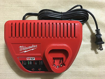 Brand New Milwaukee M12 12 Volt Charger Red Lithium-Ion Model 48-59-2401