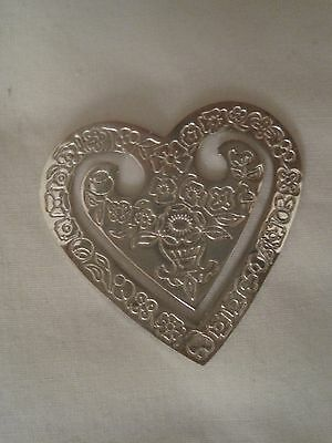 Sterling  Silver  Book  Mark  ''a Heart '' Hall Marked