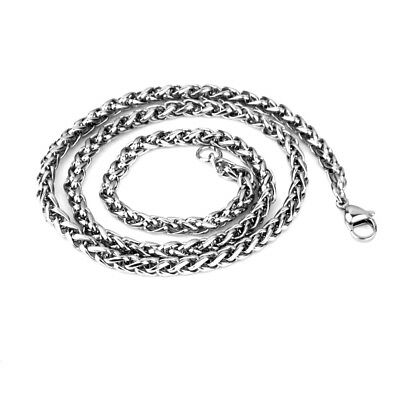 """316L Stainless Steel Men Chain Classic Necklace 22"""" Silver Tone Cool Decor"""