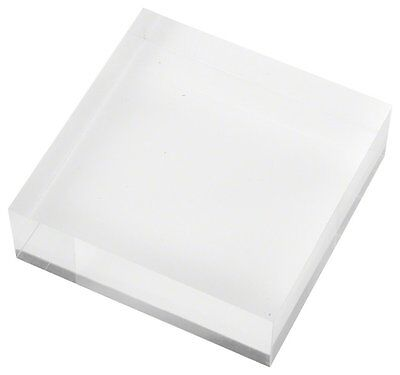 "Plymor Brand Clear Polished Acrylic Square Display Block, 1"" H x 3"" W x 3"" D"