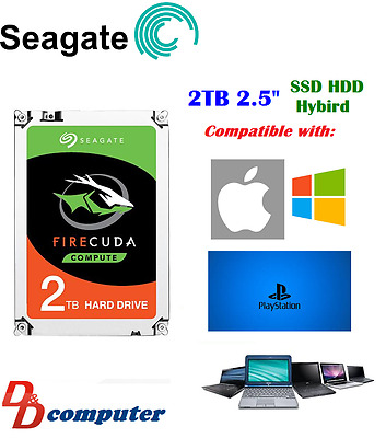 "Seagate 2TB SSHD 2.5"" SATA3 Internal Hybrid Hard Disk Drive SSD Laptop PS4 MAC"