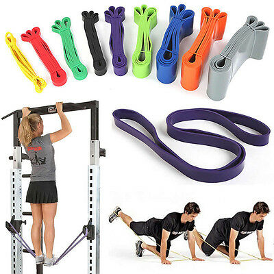 Stretch Train Rubber Pull Up Exercise Loop Resistance Band Yoga Fitness Workout